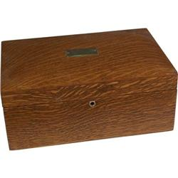 Restored Cigar Box Wooden Humidor