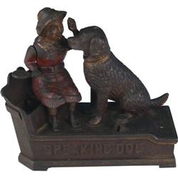 Speaking Dog Mechanical Bank J & E Stevens c1885