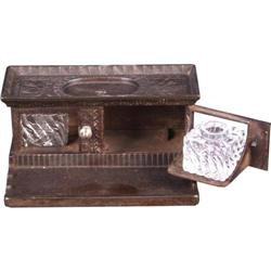 Cast Iron Stove Figural inkwell