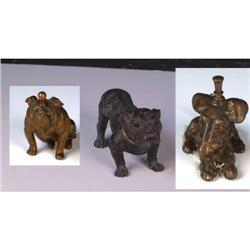 Lot of 3 Figural Animal Shaped Cigar Lighters