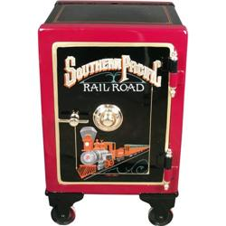 "Restored Medium Size Antique Safe ""Southern Pacific RR"""