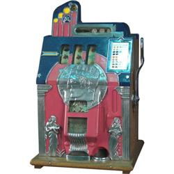 5 cent Mills Roman Head Slot Machine with Key