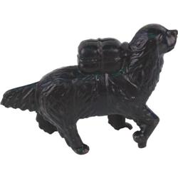 Large Dog with pack Cast Iron still bank A C Williams c