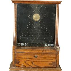 Wooden Penny-Drop Game by Gayton Mfg Co.