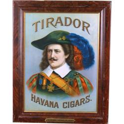 "Tirador Havana cigars self-framed tin sign 22"" x 29"""