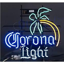 Corona Lite neon sign w/ palm tree