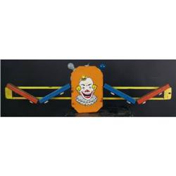 "Clown Face Carnival Rounding Board  Lighted  68"" long"