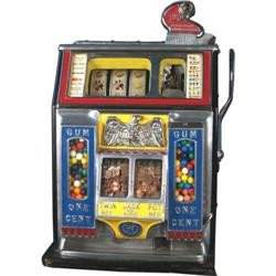 1 Cent Watling Twin Jackpot Slot Machine With Gum