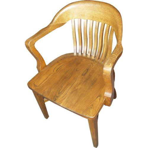 Antique Oak Library Chair beautifully refinished. Loading zoom - Antique Oak Library Chair Beautifully Refinished.