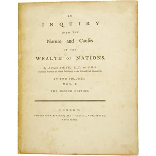 an analysis of adam smiths views in wealth of nations Classical views of the academy: education in adam smith's  wealth of nations hedayeh samavati  indiana - purdue university - fort wayne  david a dilts.