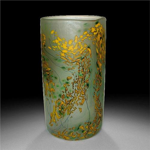 Peter Layton Mimosa Frosted Cylinder Vase