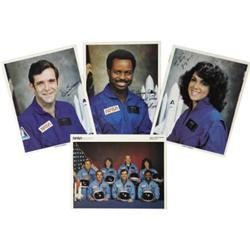 Challenger (STS-51-L) 4 Photos, 3 Signed