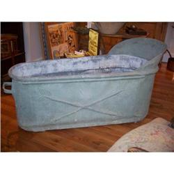 French First Empire Zinc Bath Tub #2085476