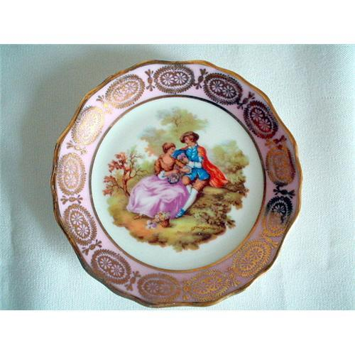 limoges miniature plate fragonard signed 4 2101687. Black Bedroom Furniture Sets. Home Design Ideas