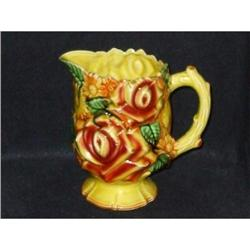 vintage majolica  royal bouquet pottery pitcher#2069097