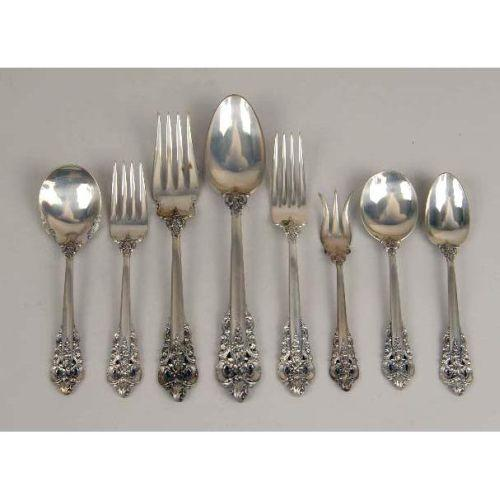 A group of wallace quot grande baroque sterling silver