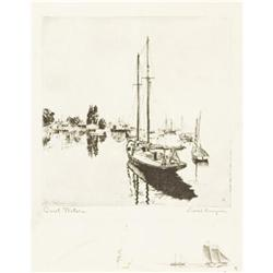 Lionel Barrymore, Etching, Quiet Waters