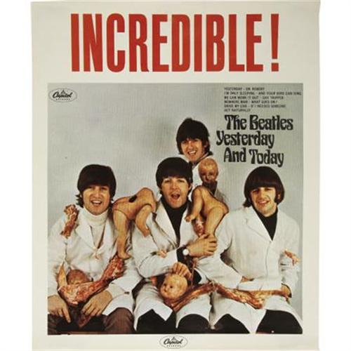 """Butcher Cover Letter: Beatles """"Butcher Cover"""" In-Store Promo Poster"""