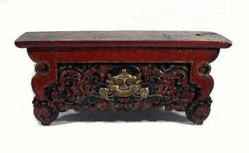 A FINE TIBETAN ALTAR TABLE, C.18th Century, O. Loading Zoom