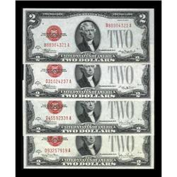 A Quartette of Early $2 1928C Legal Tender