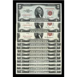 A Group of a Dozen Later Series $2 Legal Tender