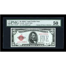 Fr. 1526* $5 1928A Legal Tender Note. PMG About