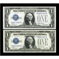 Fr. 1601 $1 1928A Silver Certificates. X-B and