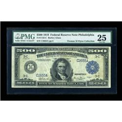 Fr. 1132-C $500 1918 Federal Reserve Note PMG