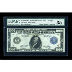 Fr. 1133-G $1000 1918 Federal Reserve Note PMG