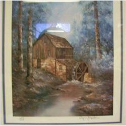 Sherry Masters #869Old Water Mill Framed Print #2125866