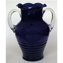 Louie Glass Co. Cobalt Blue Pressed Glass Vase #2121850