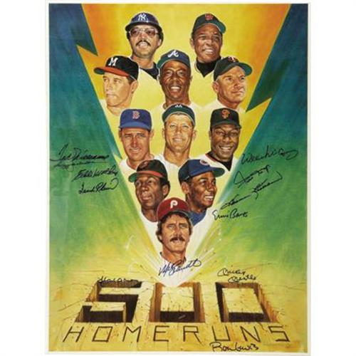 500 home run club signed picture.