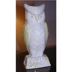 BELLEEK CHINA OWL VASE #2211977