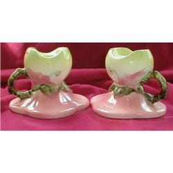 HULL WoodLAND Candle Holders -W30- VINTAGE #2227132