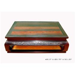 Chinese India Zitan Phoenix Dragon Kang Table  #2189751