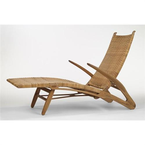 hans wegner chaise lounge johannes hansen den. Black Bedroom Furniture Sets. Home Design Ideas