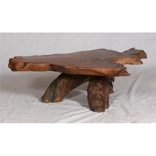 Solid wood slab natural wood coffee table for Wood slab coffee table