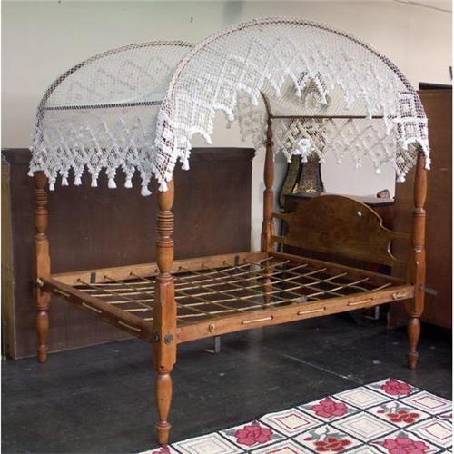 COLONIAL STYLE PINE ROPE CANOPY BED KNOTTED COVER - Canopy Bed Covers Land  Design Reference - - Canopy Bed Covers Laytonutah Home Design