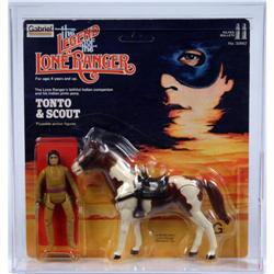 Lone Ranger 1981 Carded Tonto & Scout AFA Y-85