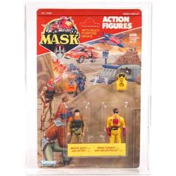 M.A.S.K. 1986 Carded 2-Pack Bruce and Brad AFA 80