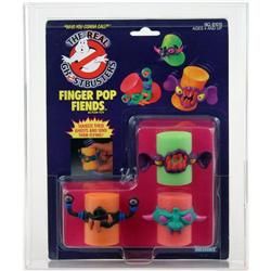 Ghostbusters 1989 Carded Finger Pop Fiends AFA 85