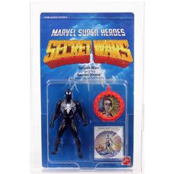 Secret Wars Carded Spider-Man Black Outfit AFA 75
