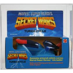 Secret Wars Boxed Vehicle Turbo Cycle AFA U85