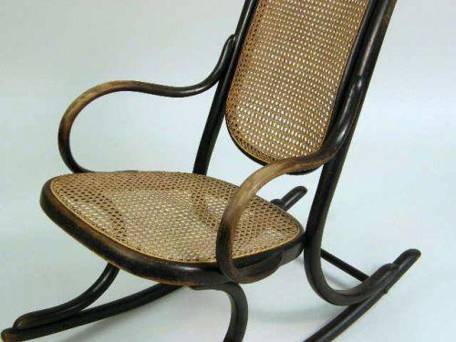 Image 2 A THONET BENTWOOD ROCKING CHAIR