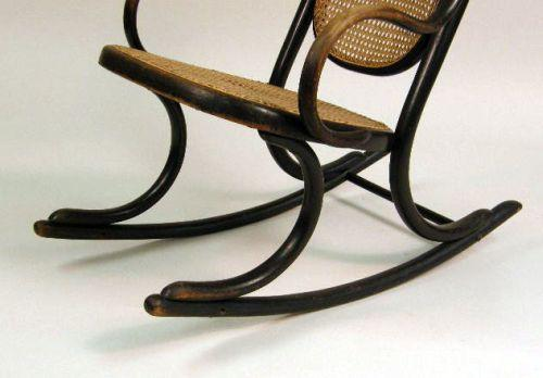 Image 4 A THONET BENTWOOD ROCKING CHAIR