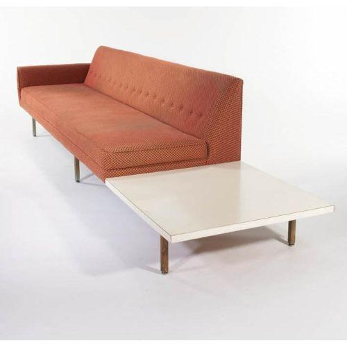 George nelson sofa with attached end table for Sectional sofa with table attached