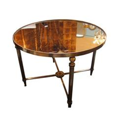 Art Deco Coffee Table In Brass And Glass 2246278