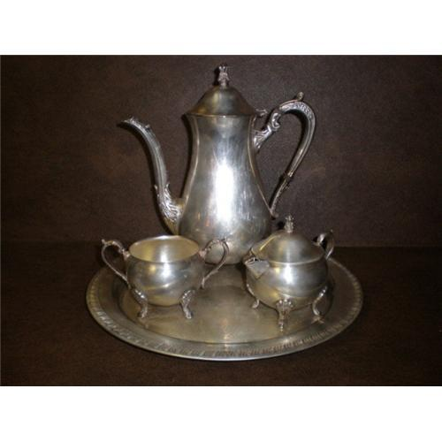 sc 1 st  iCollector.com & Leonard Silver Plate Coffee Set #2282785