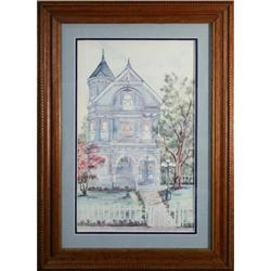Victorian Home  Print by Ava Freeman #2242218