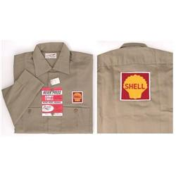 old vintage SHELL OIL EMPLOYEE work shirt 1960s#2242518